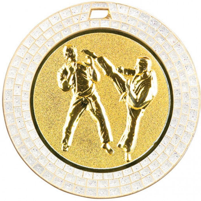 70MM KICKBOXING MEDAL GEM EFFECT - GOLD